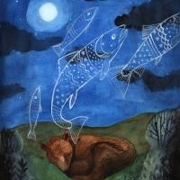 bear dreams of fish